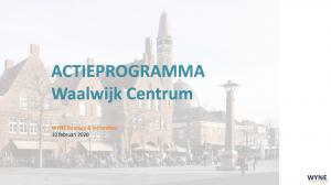 Actieprogramma revitalisatie Waalwijk Centrum