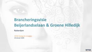 Brancheringsvisie Beijerlandselaan & Groene Hilledijk