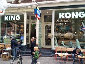 Winkelstraat binnenstad Rotterdam